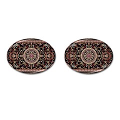 Vectorized Traditional Rug Style Of Traditional Patterns Cufflinks (oval)