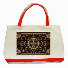 Vectorized Traditional Rug Style Of Traditional Patterns Classic Tote Bag (Red)