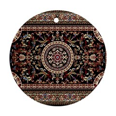 Vectorized Traditional Rug Style Of Traditional Patterns Round Ornament (two Sides)
