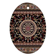 Vectorized Traditional Rug Style Of Traditional Patterns Oval Ornament (two Sides)