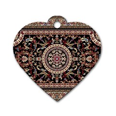 Vectorized Traditional Rug Style Of Traditional Patterns Dog Tag Heart (two Sides)