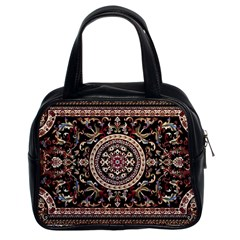 Vectorized Traditional Rug Style Of Traditional Patterns Classic Handbags (2 Sides)