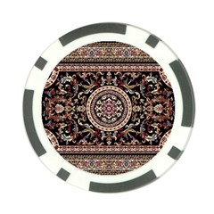 Vectorized Traditional Rug Style Of Traditional Patterns Poker Chip Card Guard (10 Pack)