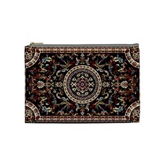Vectorized Traditional Rug Style Of Traditional Patterns Cosmetic Bag (medium)