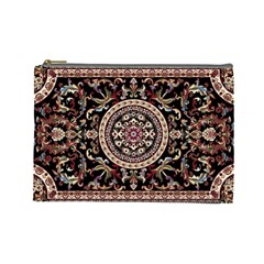 Vectorized Traditional Rug Style Of Traditional Patterns Cosmetic Bag (large)