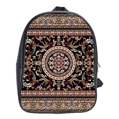 Vectorized Traditional Rug Style Of Traditional Patterns School Bags(Large)
