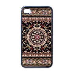 Vectorized Traditional Rug Style Of Traditional Patterns Apple Iphone 4 Case (black)