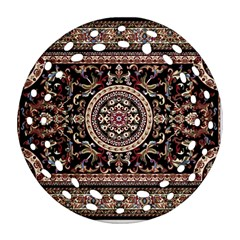 Vectorized Traditional Rug Style Of Traditional Patterns Round Filigree Ornament (two Sides)
