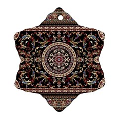 Vectorized Traditional Rug Style Of Traditional Patterns Snowflake Ornament (two Sides)