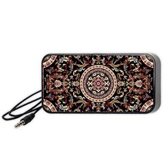 Vectorized Traditional Rug Style Of Traditional Patterns Portable Speaker (Black)