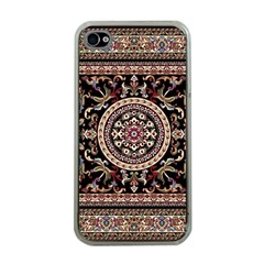 Vectorized Traditional Rug Style Of Traditional Patterns Apple Iphone 4 Case (clear)