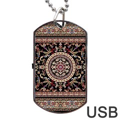 Vectorized Traditional Rug Style Of Traditional Patterns Dog Tag USB Flash (Two Sides)
