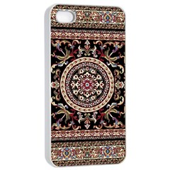 Vectorized Traditional Rug Style Of Traditional Patterns Apple iPhone 4/4s Seamless Case (White)