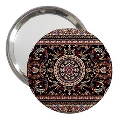 Vectorized Traditional Rug Style Of Traditional Patterns 3  Handbag Mirrors