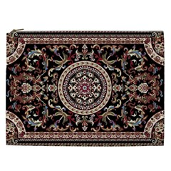 Vectorized Traditional Rug Style Of Traditional Patterns Cosmetic Bag (xxl)