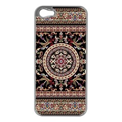 Vectorized Traditional Rug Style Of Traditional Patterns Apple Iphone 5 Case (silver)