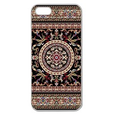 Vectorized Traditional Rug Style Of Traditional Patterns Apple Seamless Iphone 5 Case (clear)