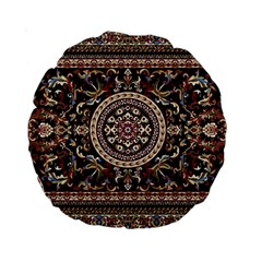 Vectorized Traditional Rug Style Of Traditional Patterns Standard 15  Premium Round Cushions