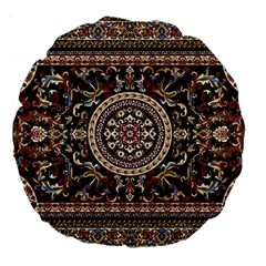 Vectorized Traditional Rug Style Of Traditional Patterns Large 18  Premium Round Cushions