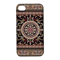Vectorized Traditional Rug Style Of Traditional Patterns Apple iPhone 4/4S Hardshell Case with Stand