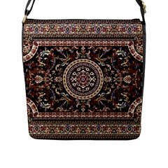 Vectorized Traditional Rug Style Of Traditional Patterns Flap Messenger Bag (l)