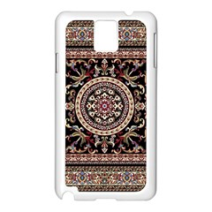 Vectorized Traditional Rug Style Of Traditional Patterns Samsung Galaxy Note 3 N9005 Case (white)