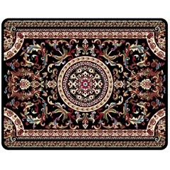 Vectorized Traditional Rug Style Of Traditional Patterns Double Sided Fleece Blanket (medium)