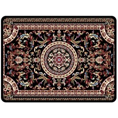 Vectorized Traditional Rug Style Of Traditional Patterns Double Sided Fleece Blanket (large)
