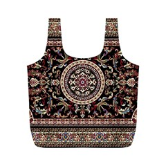 Vectorized Traditional Rug Style Of Traditional Patterns Full Print Recycle Bags (m)