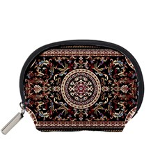 Vectorized Traditional Rug Style Of Traditional Patterns Accessory Pouches (small)