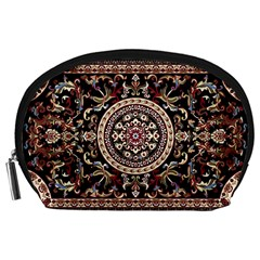 Vectorized Traditional Rug Style Of Traditional Patterns Accessory Pouches (large)