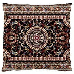 Vectorized Traditional Rug Style Of Traditional Patterns Large Flano Cushion Case (One Side)