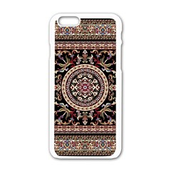 Vectorized Traditional Rug Style Of Traditional Patterns Apple Iphone 6/6s White Enamel Case