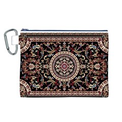 Vectorized Traditional Rug Style Of Traditional Patterns Canvas Cosmetic Bag (l)