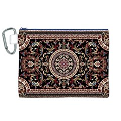 Vectorized Traditional Rug Style Of Traditional Patterns Canvas Cosmetic Bag (xl)