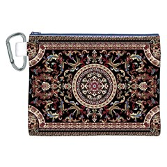 Vectorized Traditional Rug Style Of Traditional Patterns Canvas Cosmetic Bag (XXL)