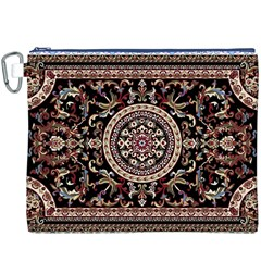 Vectorized Traditional Rug Style Of Traditional Patterns Canvas Cosmetic Bag (xxxl)