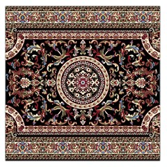 Vectorized Traditional Rug Style Of Traditional Patterns Large Satin Scarf (square)