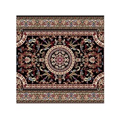 Vectorized Traditional Rug Style Of Traditional Patterns Small Satin Scarf (square)