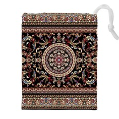 Vectorized Traditional Rug Style Of Traditional Patterns Drawstring Pouches (XXL)