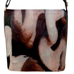 Flamingo Hustle Flap Messenger Bag (s)