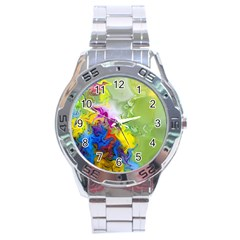 Hayfever Stainless Steel Analogue Watch