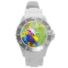Hayfever Round Plastic Sport Watch (L)