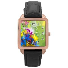 Hayfever Rose Gold Leather Watch