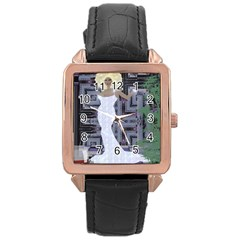 Hello Rose Gold Leather Watch