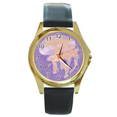 Jelly Baby Round Gold Metal Watch