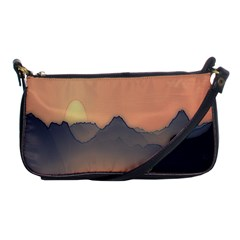 Mountains Shoulder Clutch Bags