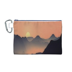 Mountains Canvas Cosmetic Bag (M)