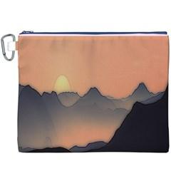 Mountains Canvas Cosmetic Bag (XXXL)