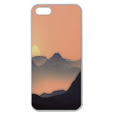 Mountains Apple Seamless Iphone 5 Case (clear)